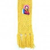 Kids Cable Knit Pocket Scarf