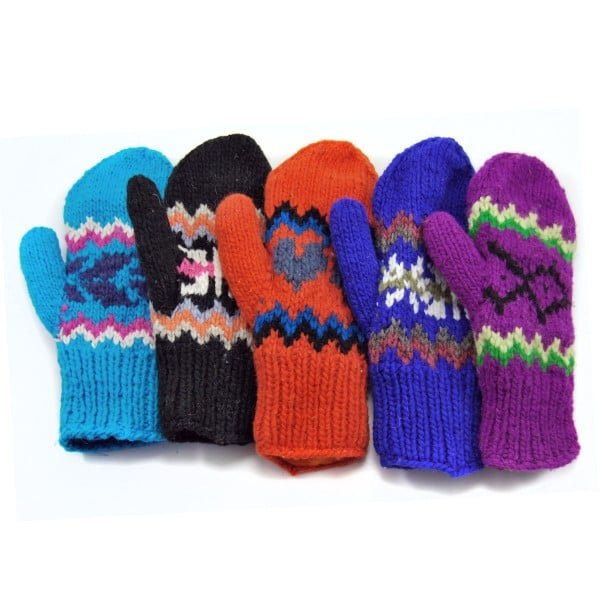 Adult Lined Cable Knit Mittens