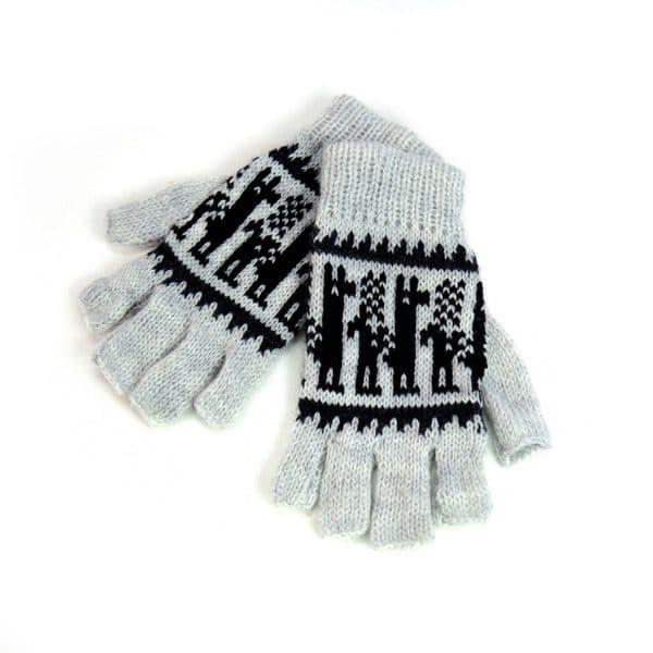 Alpaca Blend Fingerless Gloves