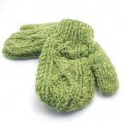 Kid Cable Knit Mittens