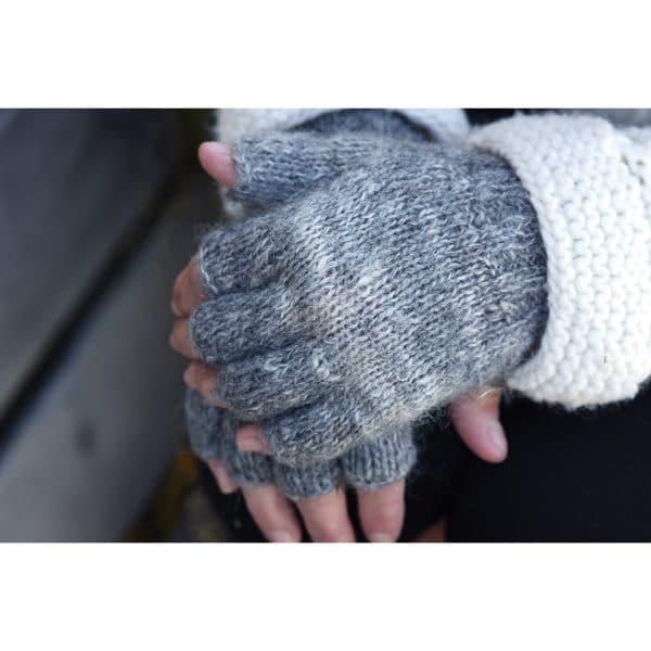 Rustic Alpaca Fingerless Gloves
