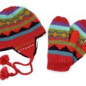 Classic Knit Hat & Mitten Set