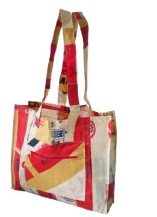 Upcycled Cement Sack Grocery Bag