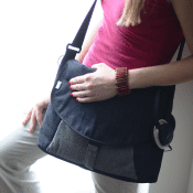 Upcycled Denim Messenger Bag