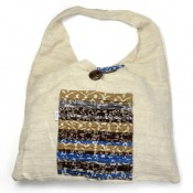 Khadi/ND Shoulder Tote with Button