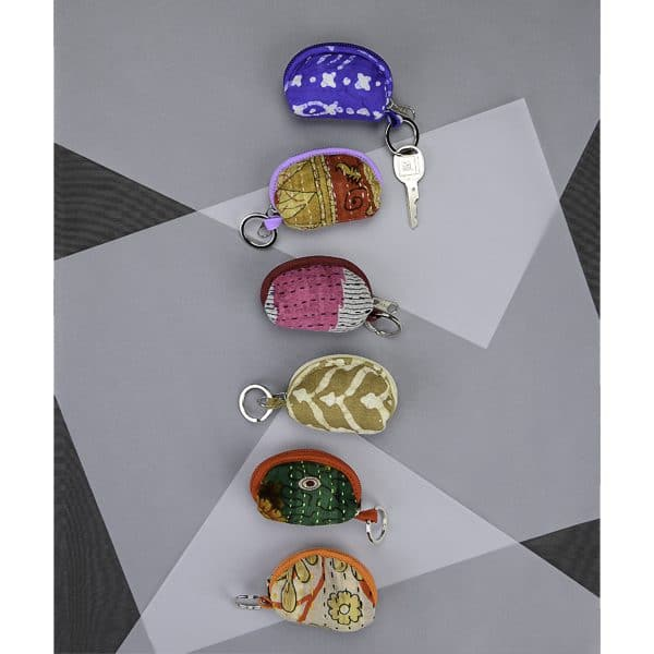 Cotton Purse Keychain