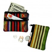 Fabric Double Zip Coin Pouch