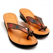 Sandal, Stamped Leather