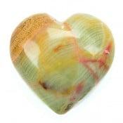 Green Onyx Heart