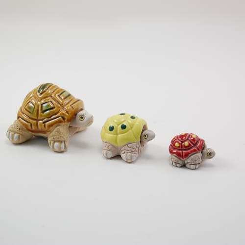 Ceramic Turtle Bobble Head, Micro