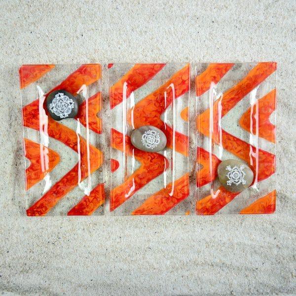 6 x 3 Glass Dish Set of 3
