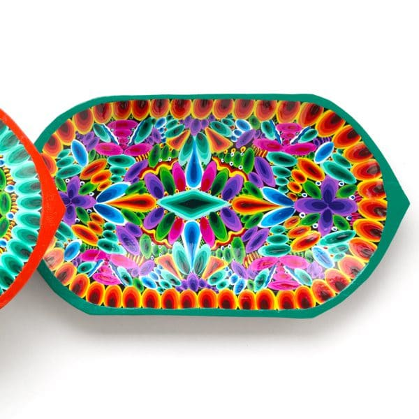 Hand Painted Plate - Oblong
