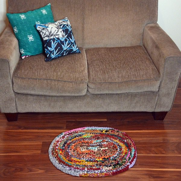 Oval Cotton Sari Rug