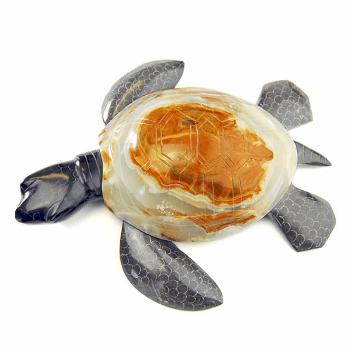 Display Marble/Onyx Turtle - S