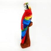 Balsa Parrot on Perch