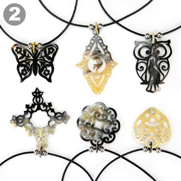 Horn Contour Necklace (Set of 6)