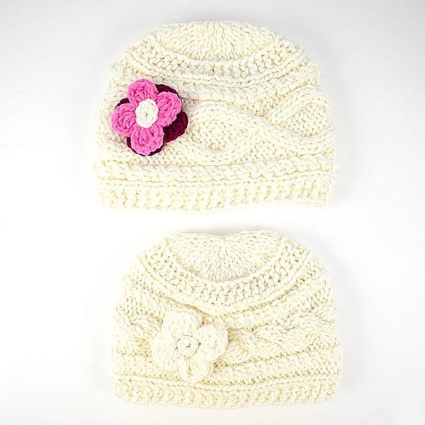 Knit Flower Hats