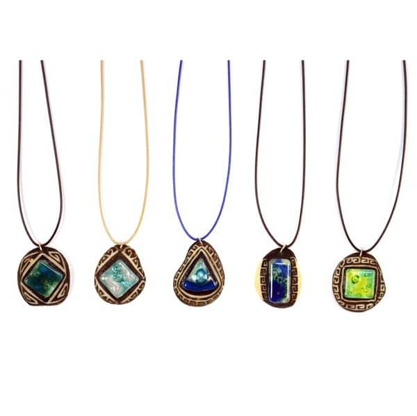 Carved Tagua and Glass Necklaces