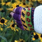Fleur Fingerless Gloves