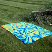 Tie Dyed Summer Throw